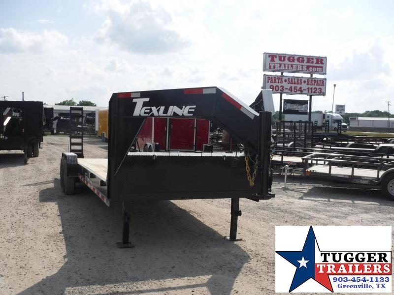 2019 TexLine 83x24 24ft Open Gooseneck Bobcat Utility Flatbed Trailer