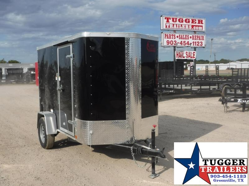 2019 Cargo Craft 5x8 8ft Plus 2' V-Nose Ramp Enclosed Cargo Trailer