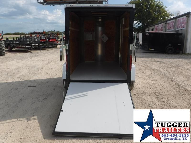 2019 Cargo Craft 5x8 8ft Plus 2' V-Nose Ramp Enclosed Cargo Trailer