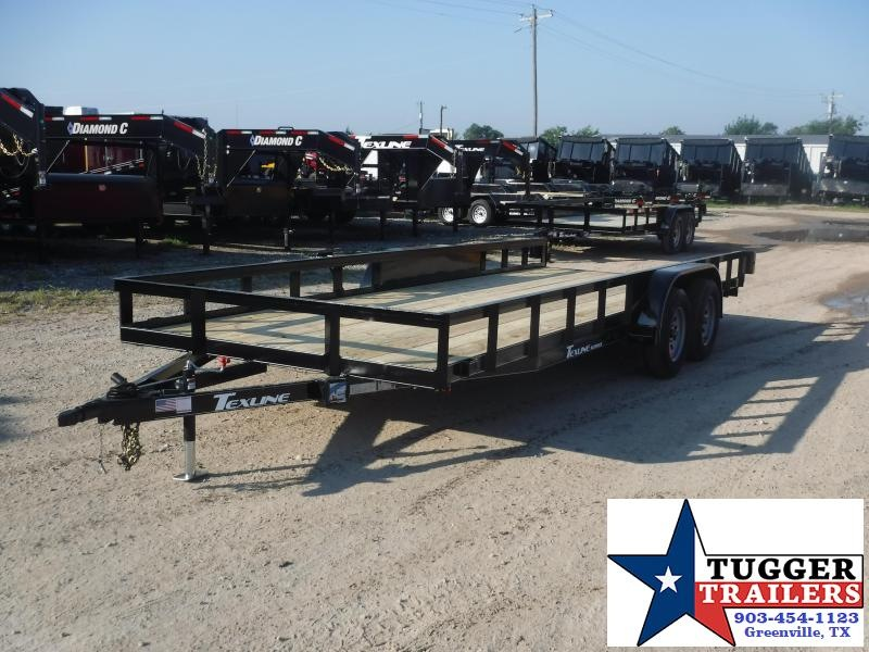 2019 TexLine 83x20 20ft Open Utility Ramnp Flatbed Trailer