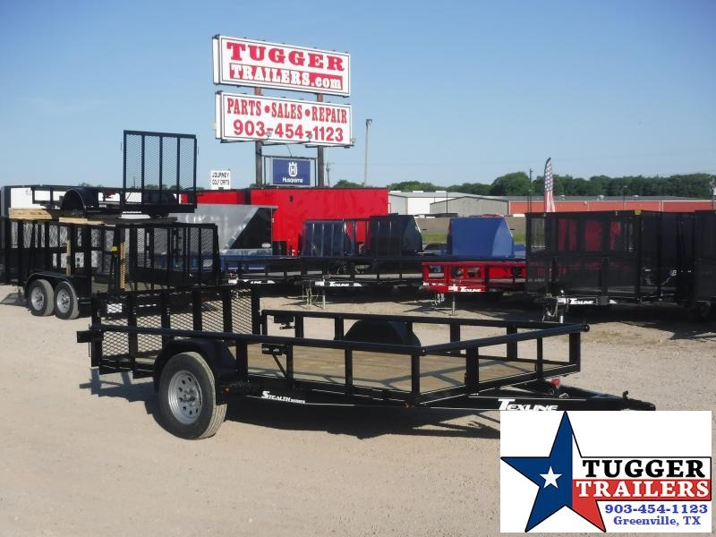 2020 TexLine 77x12 12ft Stealth Steel Flatbed Toy Four Hunt Utility Trailer