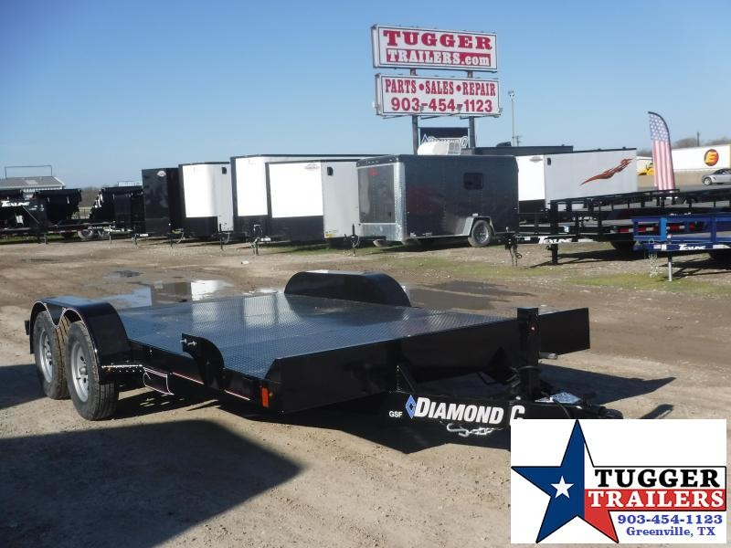 2020 Diamond C Trailers 83x16 16ft Black GSF Flatbed Utility Trailer