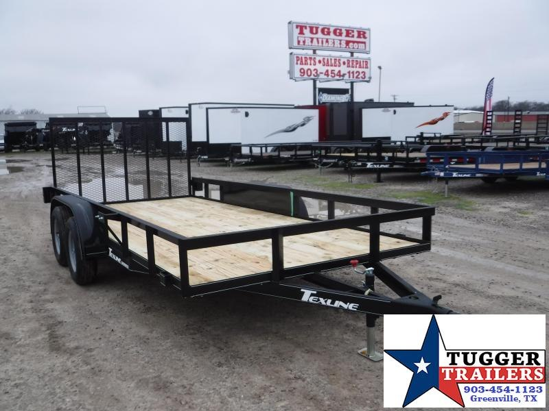 2020 TexLine 83x16 16ft Utility Flatbed Trailer
