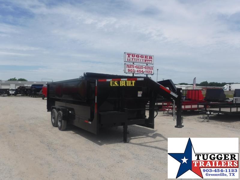 2020 Texas Pride Trailers 7x16 16ft Telescoping Steel Asphalt Equipment Dump Trailer