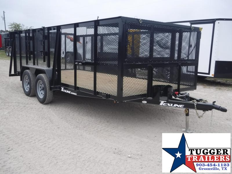 2019 TexLine 83x16 16ft Landscape Mower Equipment Utility Trailer