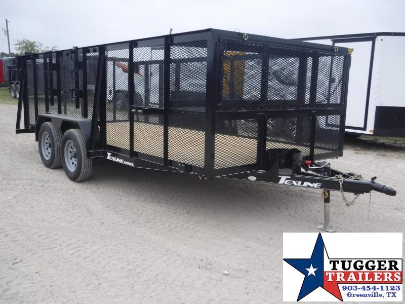 2019 TexLine 83x16 16ft Landscape Mower Equipment Utility Trailer