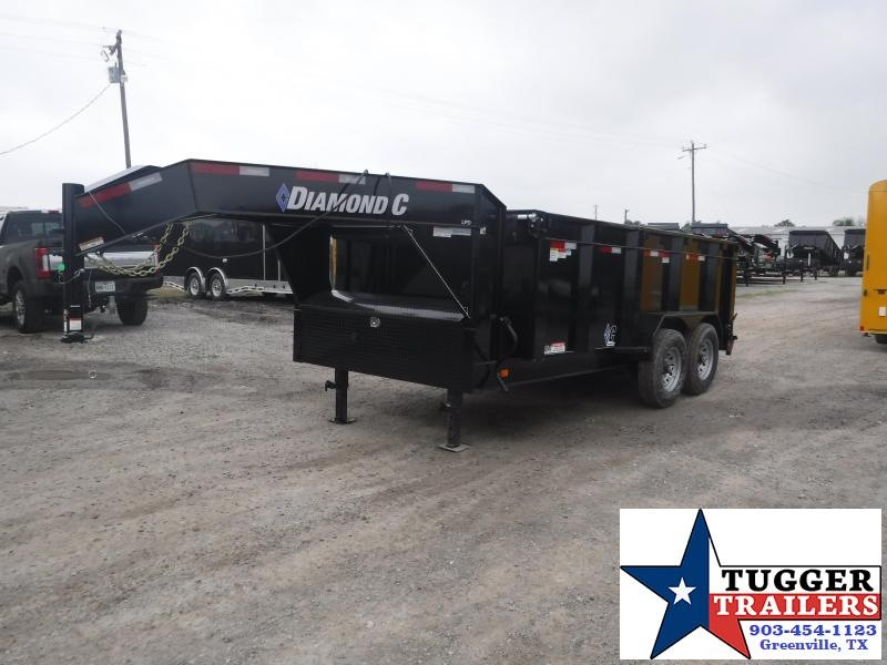 2019 Diamond C Trailers 82x14 14ft Gooseneck 2019 Black LPD Dump Trailer