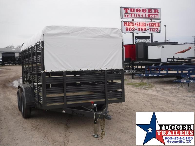 2020 TexLine 6x12 12ft Stock Cattle Farm Livestock Trailer