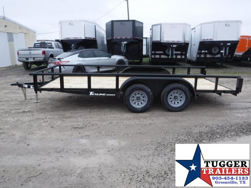 2020 TexLine 83x16 16ft Pipe Top Utility Flatbed Trailer