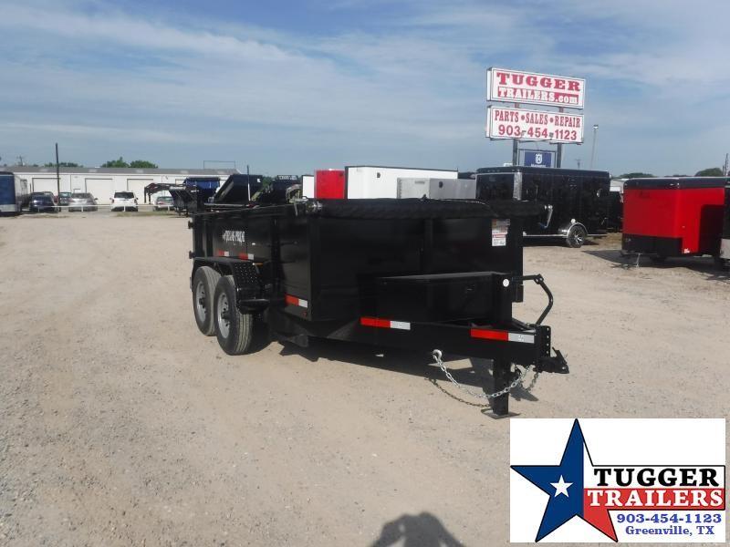 2020 Texas Pride Trailers 7x1212ft Steel Heavy Duty Work Asphalt Rock Lawn Dump Trailer