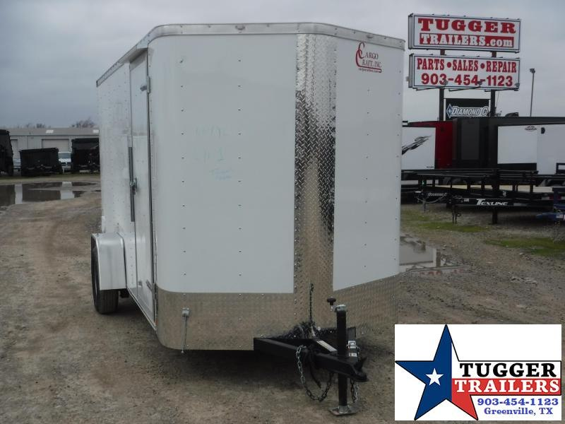 2020 Cargo Craft 6x12 12ft Elite Plus 2' V-Nose Utility Enclosed Cargo Trailer