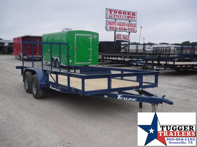 2019 TexLine 77x16 16ft Utility Ramp Flatbed Trailer