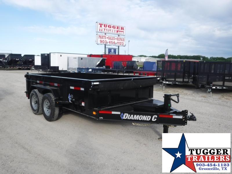 2020 Diamond C Trailers 82x12 12ft LPD Steel Heavy Duty Work Construction Dump Trailer