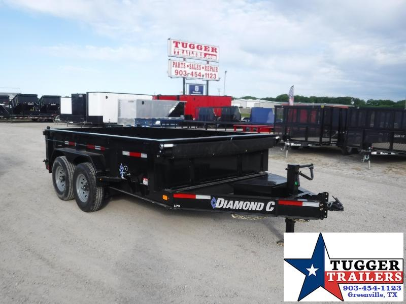 2020 Diamond C Trailers 82x12 12ft LPD Steel Heavy Duty Work Construction Dump Trailer