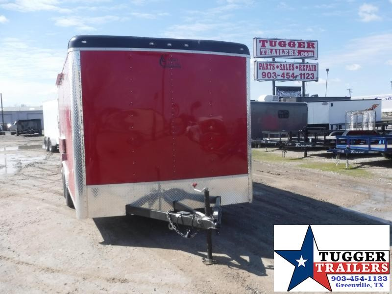 2020 Cargo Craft 8.5x16 16ft Red Taco Street Food Ice BBQ Cargo Vending / Concession Trailer