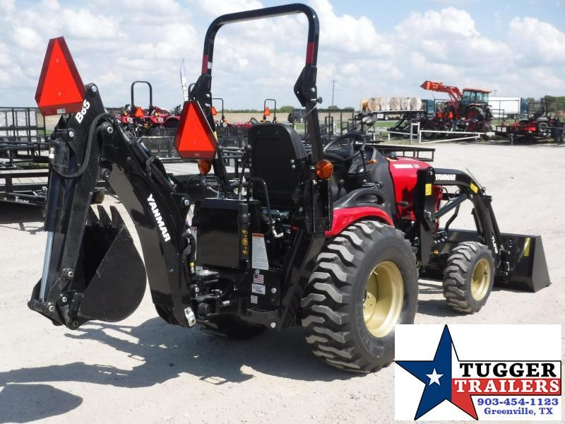 "2019 Yanmar SA 424 DIESEL Tractor With Backhoe and 12"" Bucket"