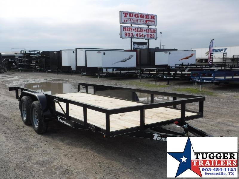 2020 TexLine 77x16 16ft Flatbed Utility Trailer