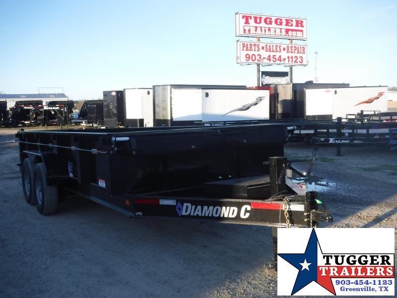 2020 Diamond C Trailers 82x16 16ft Steel Heavy Duty Dump Trailer