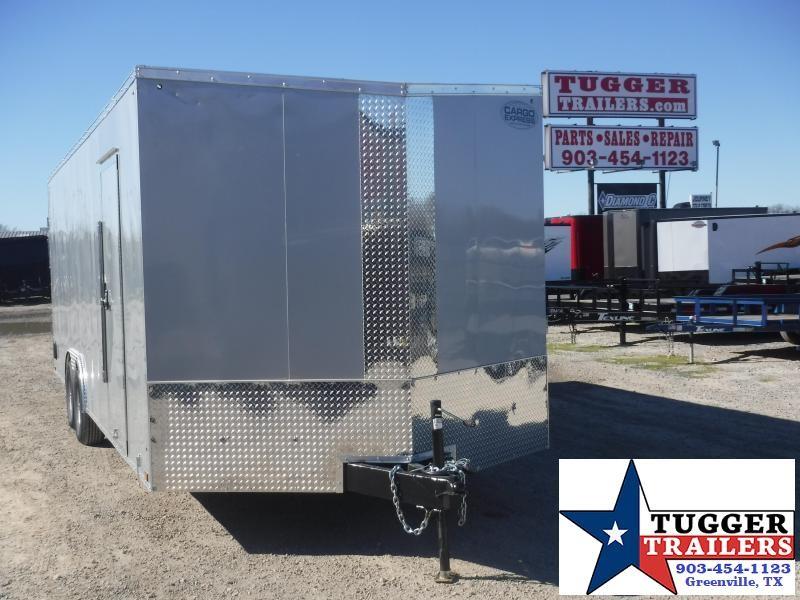 "2020 Cargo Express 8.5x24 24ft Auto 30"" Slope V-Nose Utility Enclosed Cargo Trailer"