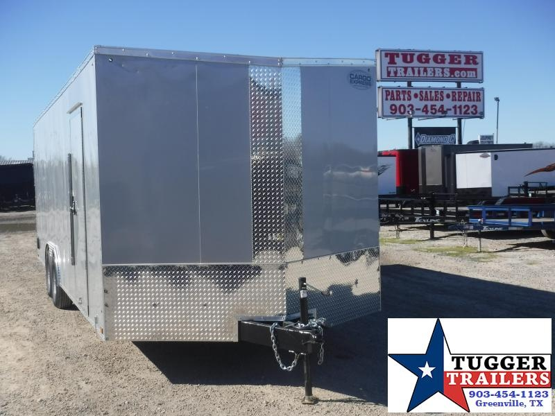 "2020 Cargo Express 8.5x24 24ft Auto 30"" Slope V-Nose Utility Enclosed Cargo Trailer"
