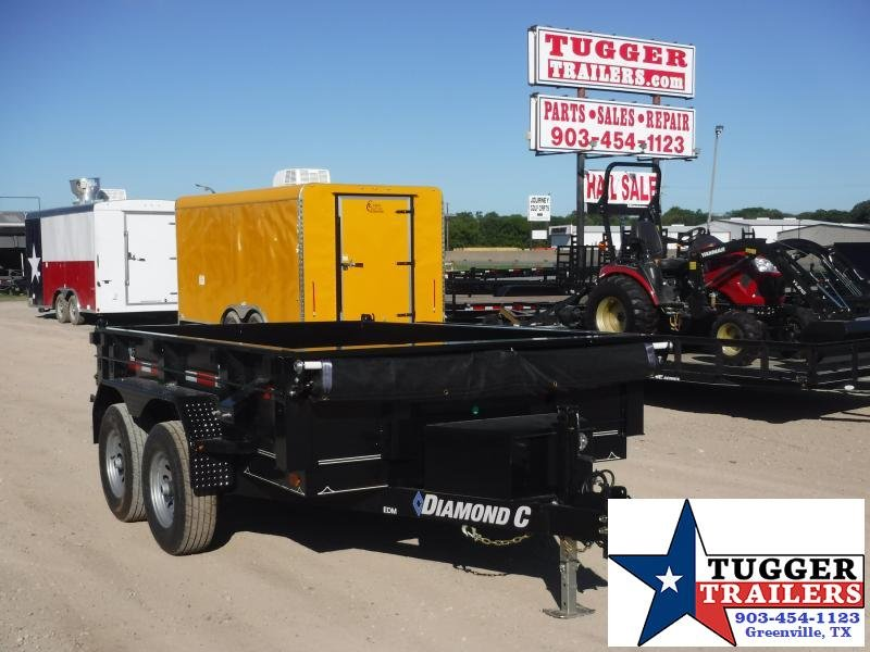 2019 Diamond C Trailers 77x10 10ft 2019 Black EDM252 Dump Trailer