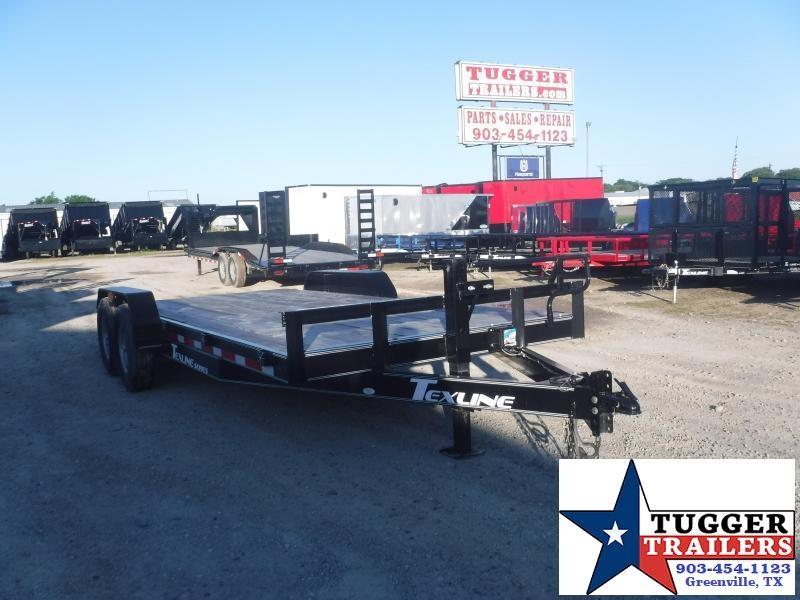 2019 TexLine 83x20 20ft Flatbed Bobcat Utility Equipment Trailer