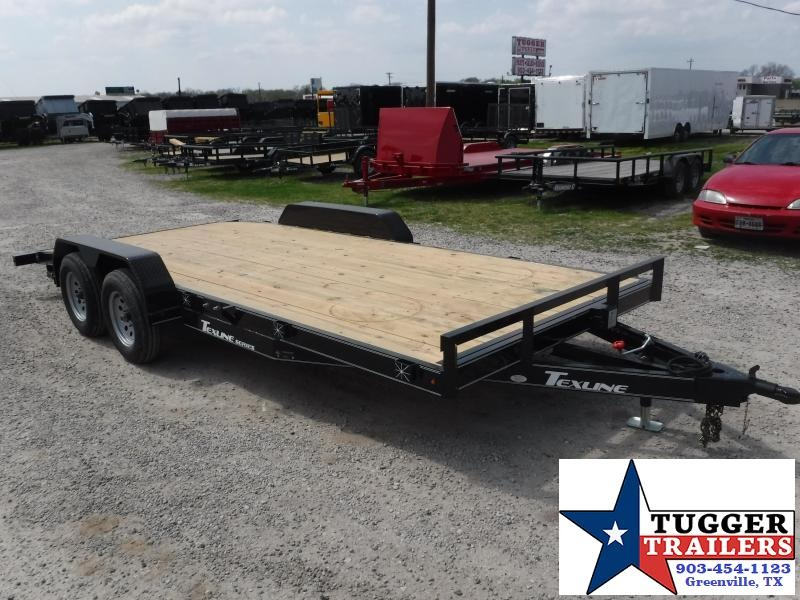 2018 TexLine 83x16 16ft Deluxe Flatbed Tow Car / Racing Open Car Hauler Trailer