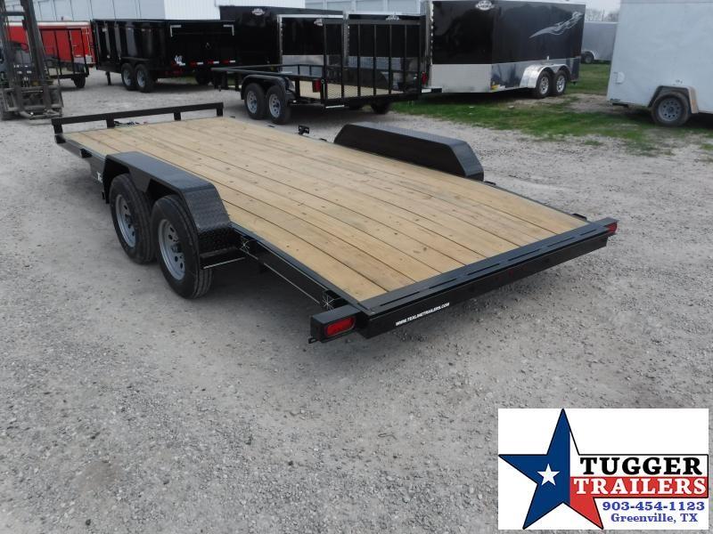 2018 TexLine 83x16 16ft Deluxe Flatbed Tow Car / Racing Open Car Hauler Trailer