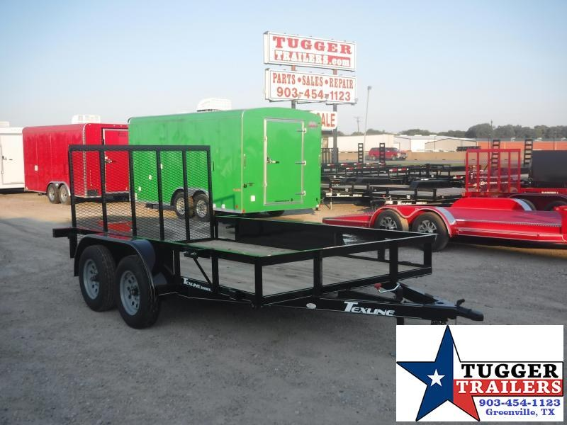 2019 TexLine 77x12 12ft Utility Ramp Flatbed Trailer