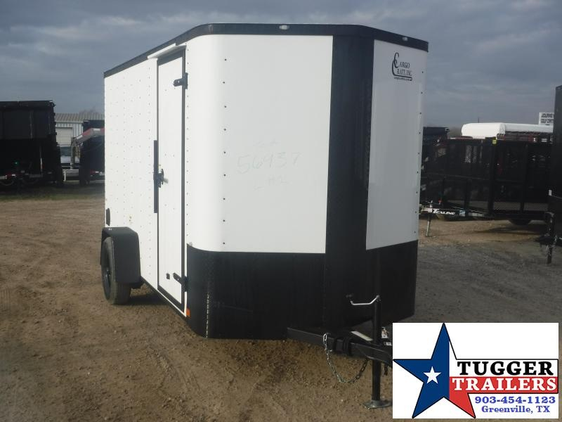2020 Cargo Craft 6x12 12ft Elite Plus 2' V-Nose Black Out Ramp Enclosed Cargo Trailer