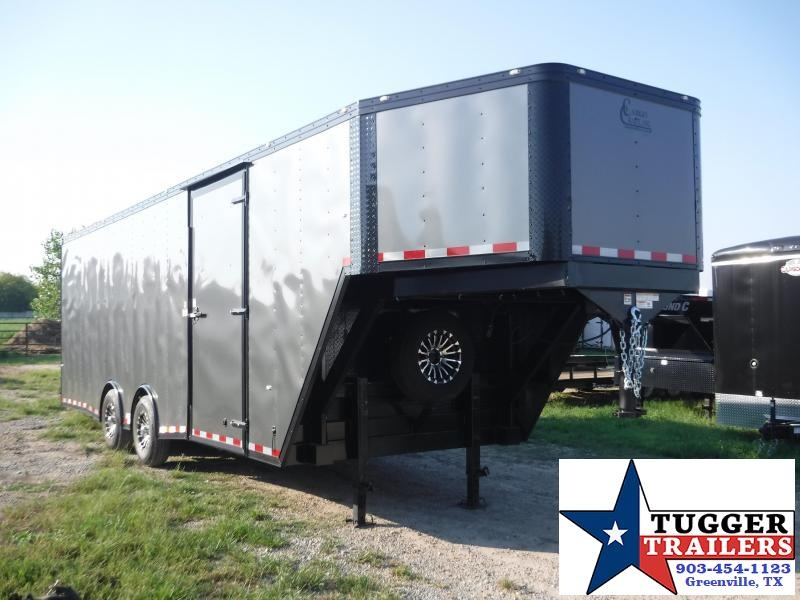 2019 Cargo Craft 8.5x32ft Enclosed Gooseneck Blackout Ramp Cargo Trailer