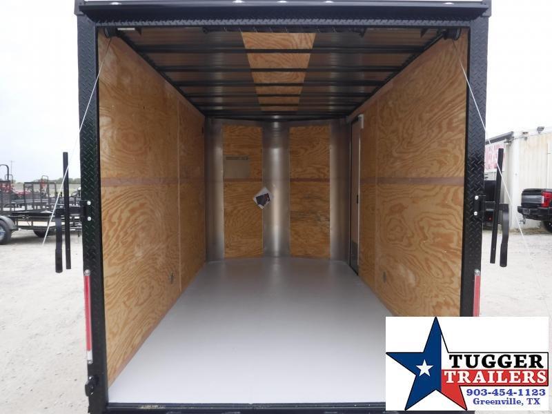 2020 Cargo Craft 7x14 14ft Diamond Ice Blackout Ramp Utility Enclosed Cargo Trailer