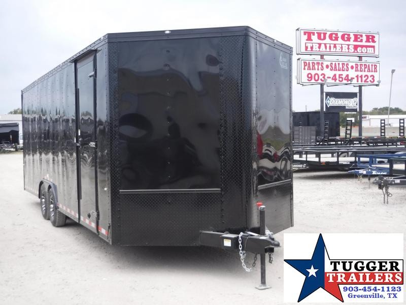 2020 Cargo Craft 8.5x24 24ft Auto Mobile Cargo Enclosed Blackout Car / Racing Trailer