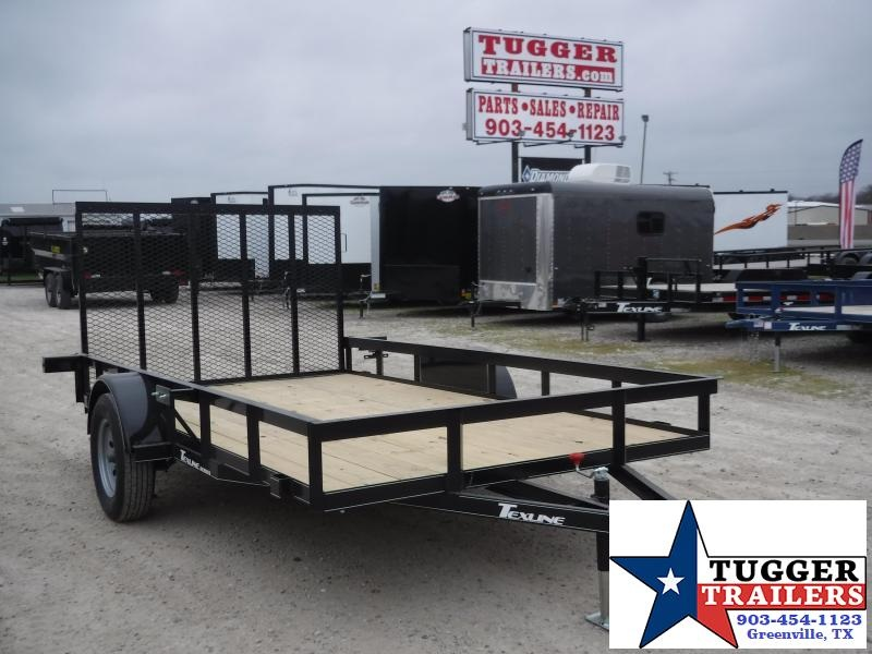 2020 TexLine 77x12 12ft Flatbed Lawn Work Farm Utility Trailer