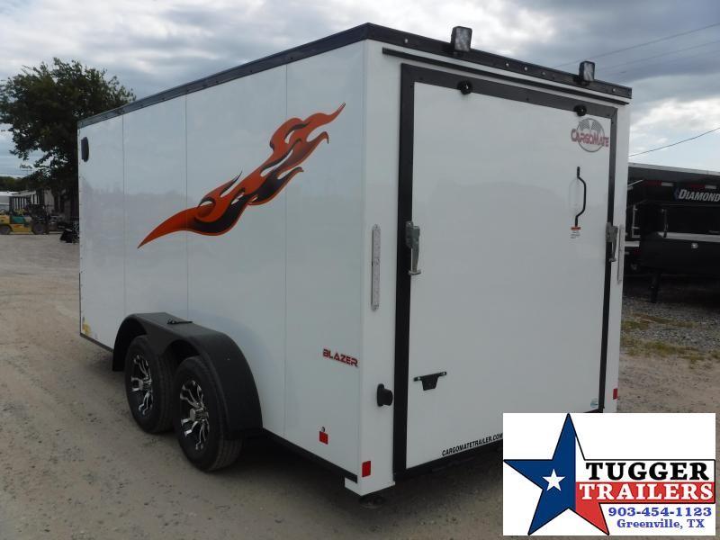 2020 Cargo Mate 7x14 14ft Blazer Blackout Cargo Enclosed Harley Motorcycle Trailer