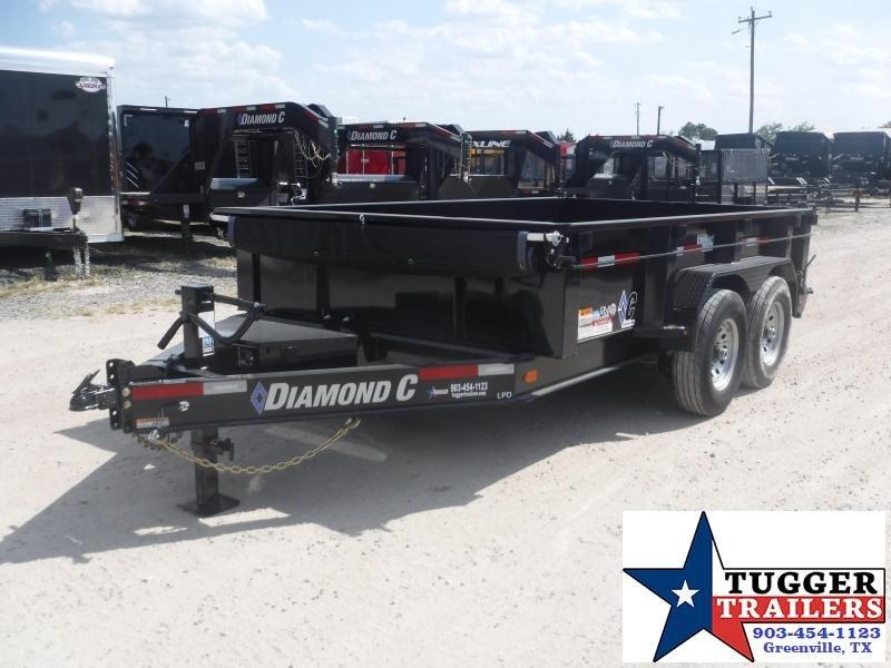 2019 Diamond C Trailers 82x12 12ft 2019 Black Dump LPD 207 Dump Trailer