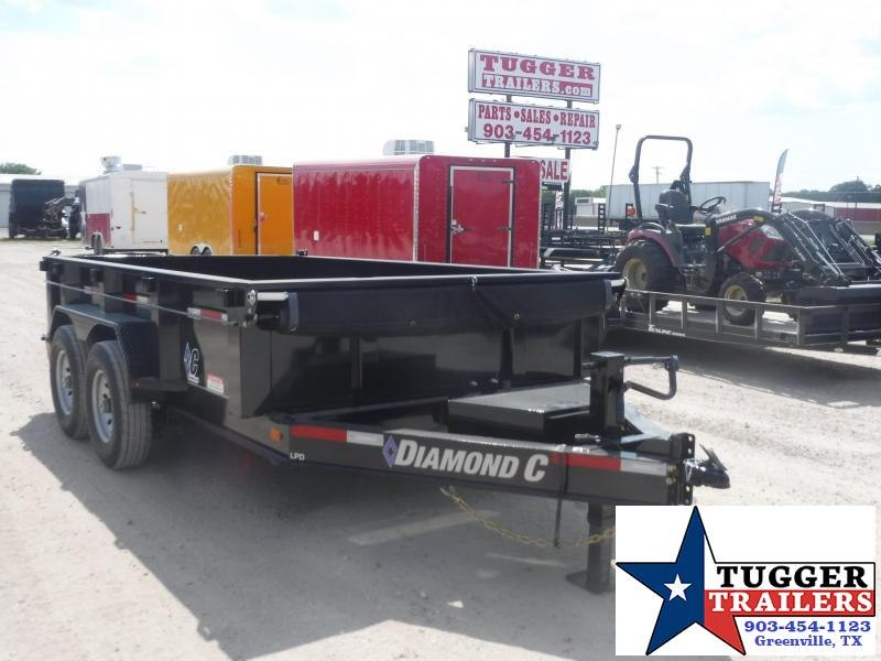 2019 Diamond C Trailers 82x12 12ft 2019 Black Dump LPD 207 Dump Trailer