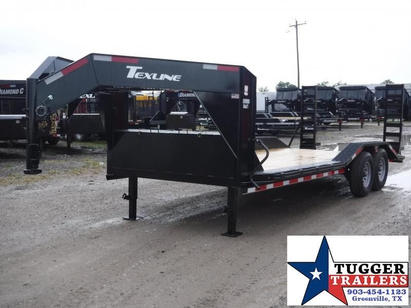 2019 TexLine 83x20 20ft Open Gooseneck Equipment Utility Flatbed Trailer