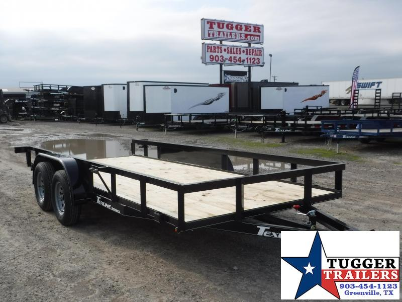 2020 TexLine 77x16 16ft Utility Flatbed Trailer