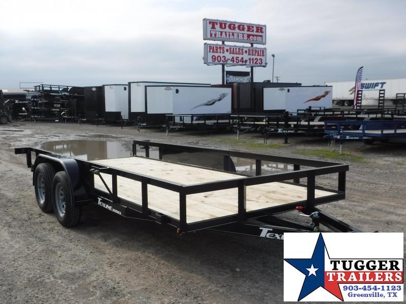 2020 TexLine 77x16 16ft Utility Flatbed Trailer