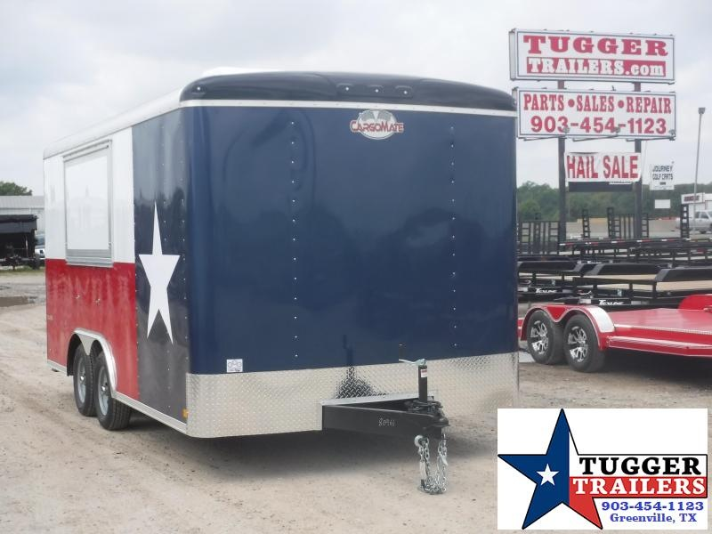 2019 Cargo Mate 8.5x16 16ft Texas Flag Street Food Taco Vending / Concession Trailer