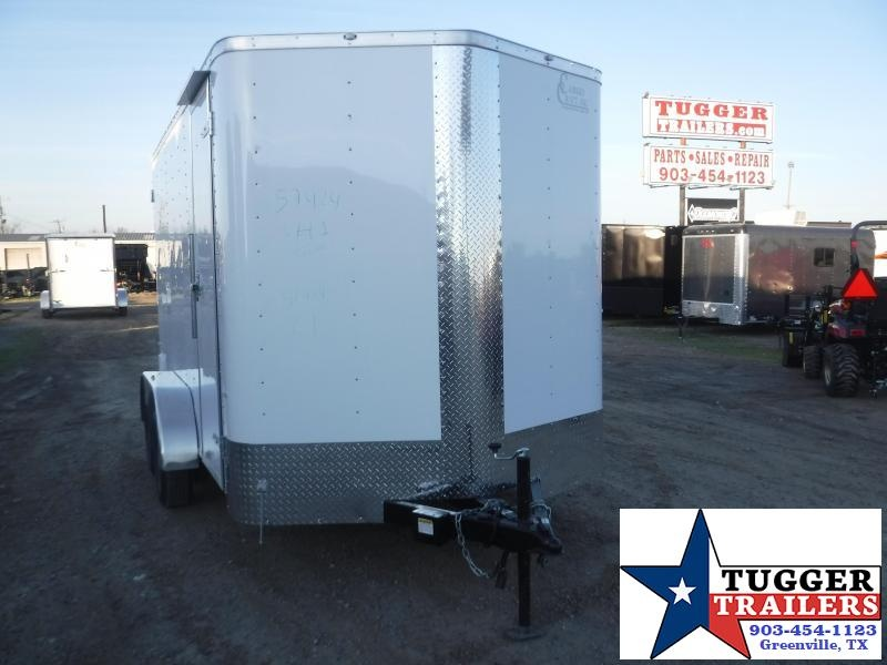 2020 Cargo Craft 7x14 14ft Utility White Ramp Sport Band Move Toy Enclosed Cargo Trailer