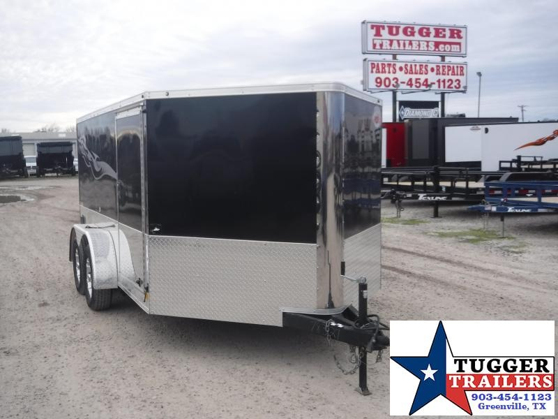 2018 Cargo Mate 7x12 12ft Low Hauler Cargo Enclosed Motorcycle Trailer