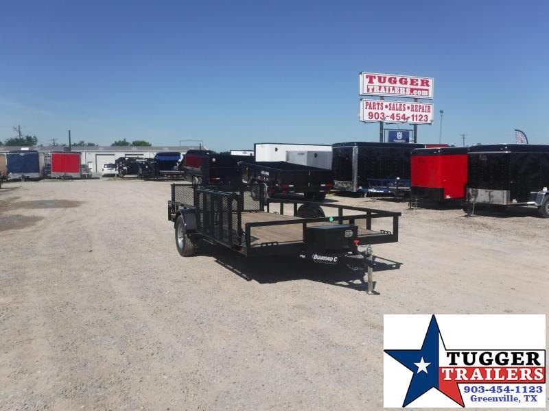 2020 Diamond C Trailers 83x14 14ft Steel Heavy Duty Equipment Flatbed Utility Trailer
