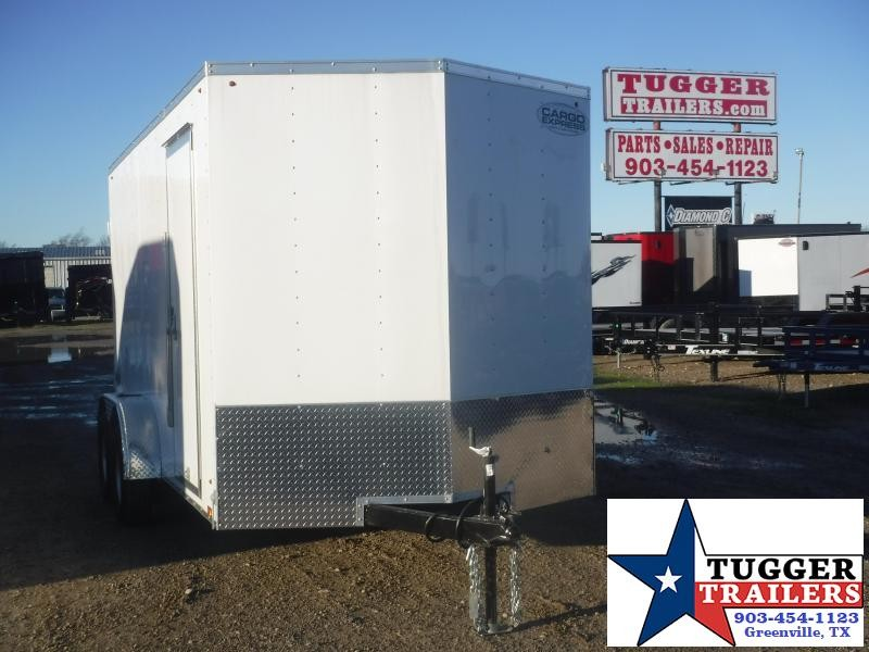 "2020 Cargo Express 7x14 14ft 18"" V-Nose Utility Enclosed Cargo Trailer"