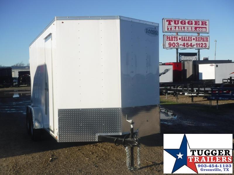 """2020 Cargo Express 7x14 14ft 18"""" V-Nose Utility Enclosed Cargo Trailer"""