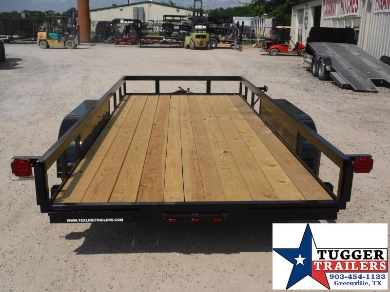 2019 TexLine 77x16 16ft Flatbed Utility Trailer