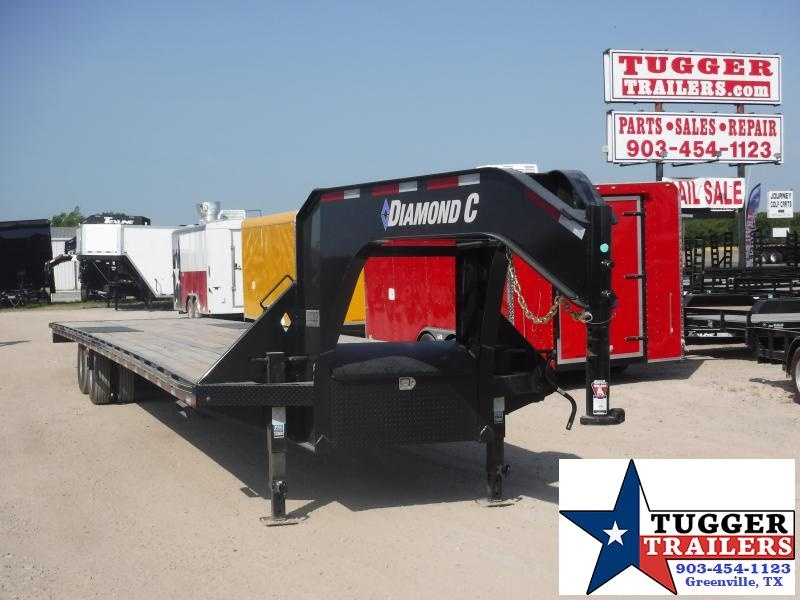 2019 Diamond C Trailers 102x40 40ft Black Open Gooseneck 2019 FMAX210 Flatbed Trailer