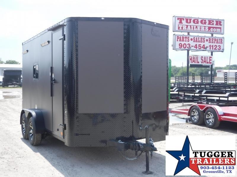 2020 Cargo Craft 7x14 14ft Blackout Bronze Ramp Enclosed Cargo Trailer