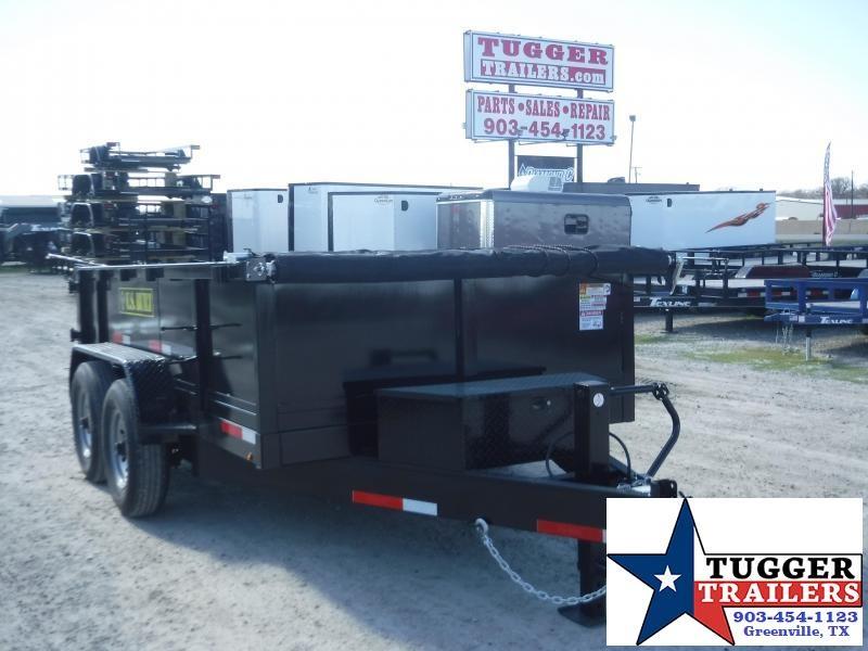 2020 Texas Pride Trailers 7x12 12ft Steel Heavy Duty Rock Construction Dump Trailer